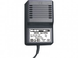 Alimentatore analogico AC/AC professionale 9V 500mA mod: SA109A