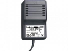 Alimentatore analogico AC/AC professionale 12V 1200mA mod: SA312A