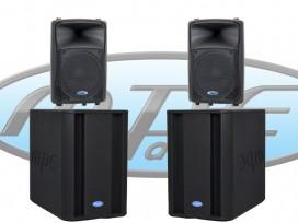 Impianto audio 8400 WATT composto da 2 satelliti ad alta efficienza Da 12+ 2 subwoofer da18 mod: KIT-L2