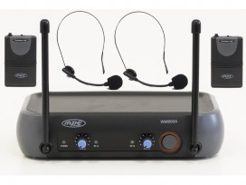 Radiomicrofono doppio archetto wireless con due canali separati mod: WM900A