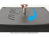 Supporto flangia in alluminio filetto M20 altezza zero a scomparsa mod: FA2C