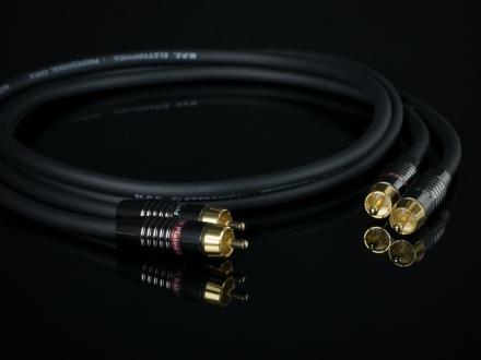 MPE AUDIO HS44 Hi-End 2 Cavi (Coppia) - Cavo Hi-Fi Audio Stereo RCA di segnale puro rame OFC