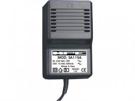 Alimentatore analogico AC/AC professionale 15V 500mA mod: SA115A