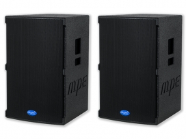 "Coppia casse attive bi amplificate professionali made in italy 2800 watt woofer 12"" 132 db spl max mod. Set base GO-12A"