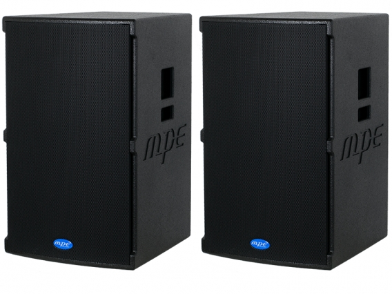 "Coppia casse attive bi amplificate professionali made in italy 2800 watt woofer 15"" 133 db spl max mod. Set base GO-15A"