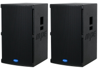 "Coppia casse attive bi amplificate professionali made in italy 2800 watt woofer 15"" 133 db spl max mod. Set base GO-15A"