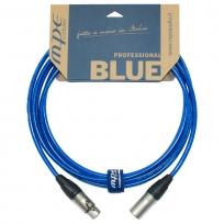 Cavo professionale Bilanciato microfono / casse attive con 2 XLR NEUTRIK Maschio / Femmina mod: BLUE4