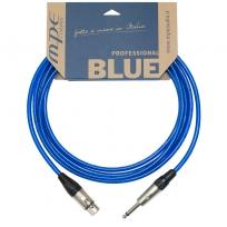 Cavo professionale per microfono con 1 jack mono e 1 XLR Neutrik femmina mod: BLUE3