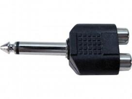 Adattatore da spina jack 6,3mm mono a doppia presa RCA mod: JA41