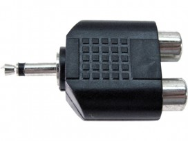 Adattatore da spina jack 3,5mm mono a doppia presa RCA mod: JA43