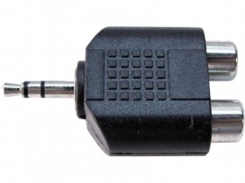Adattatore da spina jack 3,5mm stereo a doppia presa RCA mod: JA44