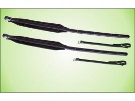 Coppia di tracolle professionali per fisarmonica in vera pelle e velluto mod: SG6L