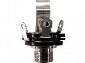 Presa jack 6,3mm da pannello mono con interrutore a saldare mod: C140