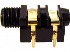Presa jack mono da pannello 6,3mm ad ingombro ridotto mod: C6030