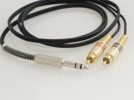 Cavo adattatore con 1 jack stereo 6,3mm e 2 RCA maschio mod: A5