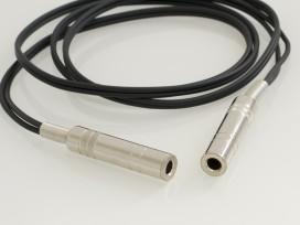 Cavo adattatore jack prolunga assemblato con 2 prese Jack stereo D. 6,3mm mod: A23