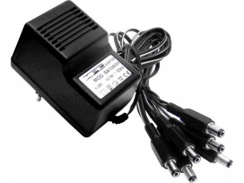Alimentatore analogico AC/DC professionale stabilizzato 6 uscite 9v 500mA mod: SA109SI6