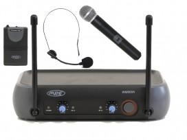 Radiomicrofono doppio wireless vhf versione KARAOKE gelato + archetto mod: WM900K