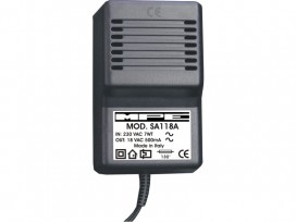Alimentatore analogico AC/AC professionale 18V 500mA mod: SA118A