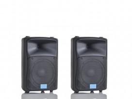 Coppia casse biamplificate attive 1000 watt musicali mod: set base DJ-10AL