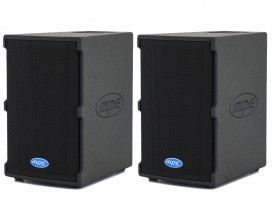"Coppia casse attive bi amplificate professionali made in italy 2000 watt woofer 8"" 127 db spl max mod. Set base GO-8A"