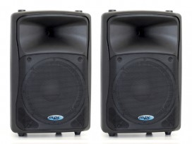 "Coppia casse attive bi amplificate professionali made in italy 2800 watt woofer 12"" 131db spl max mod. Set base Level 612"